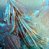 I is for Ice on a car windscreen