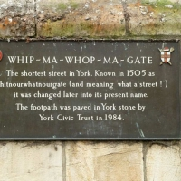 W for Whip-Ma-Whop-Ma-Gate in York