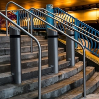 "The winning print was ""Urban Stairway"" © Glynis Harrison"